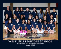 WHMS 2015 GIRLS TENNIS