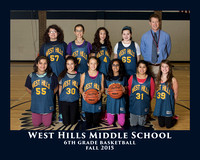WHMS 2015 6th GIRLS BASKETBALL