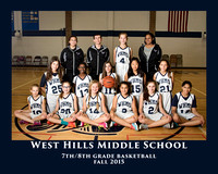 WHMS 2015 7/8 GIRLS BASKETBALL