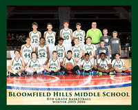 BHMS 2015-16 8th GRADE BASKETBALL
