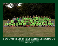 BHMS 2015 GIRLS CROSS COUNTRY